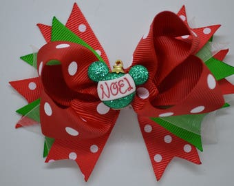 Disney NOEL Christmas Ornament - Hair Bow Clip - 10cm