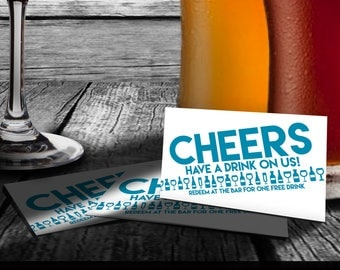 Drink Coupons / Tickets - Holiday or Company Party, Wedding, Shower, Events - DRCP_04