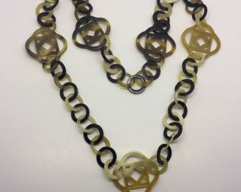 haute couture horn link necklace #7