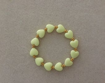 Ladies Yellow Hearts Bracelet.