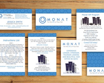 Monat Business Card  - Monat Marketing Kit -  Monat Hair Care - Monat Global - Monat  starter Pack - Monat Flyer