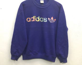 Adidas sweatshirt big logo spell out L size