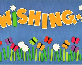 Wishing Title Over-alls Page Topper 6x12 Title Scrapbooking Scrapbooks Ek Success Embellishments Cardmaking Crafts