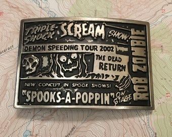 Rob Zombie Demon Speeding Tour Belt Buckle