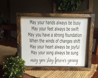 Forever Young lyrics sign