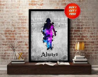 Severus,Snape, Design, Print, Poster, Fan Art, Harry Potter, Half Blood Prince, Slytherin, Hogwarts, Always, Teacher, Potions, Dark Arts