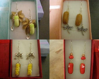 to choose pair of dangle earrings, lightning