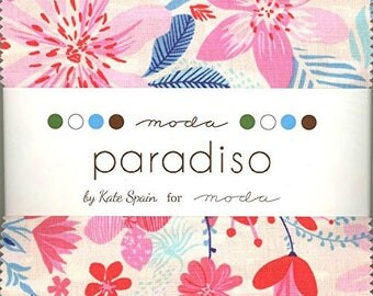 "Paradiso Charm Pack by Kate Spain for Moda - Charm Pack Precuts 42, 5""x5"" Squares - Precuts Fabrics - Charm Packs - Kate Spain"