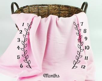 Muslin Baby Blankets Milestones
