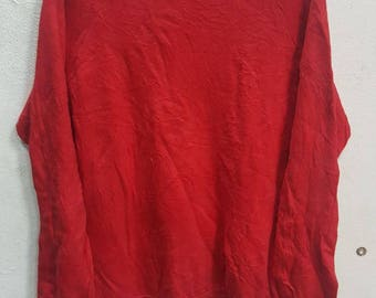 Vintage Supreme Sweatshirt Crew Neck Swag hip Hop Red Colour