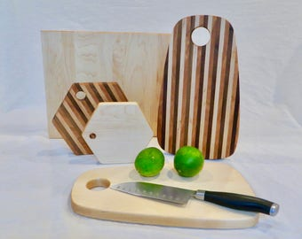 Handmade cutting boards, cheese boards, various shapes