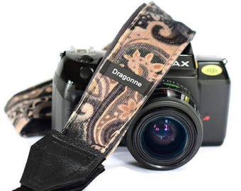 Handmade strap/ Twirl pattern/ Camera strap/ Photographer strap/ Gift for woman/ Camera accessory/ Adjustable/ Photographer accessory