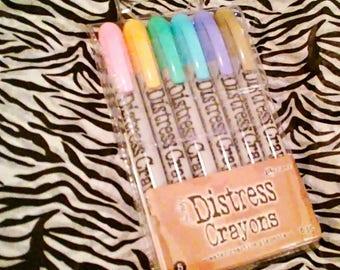 Tim Holtz Distress Crayons by Ranger  ~Set 5~ 6 ct. Crayon Set