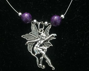 Purple fairy pendant