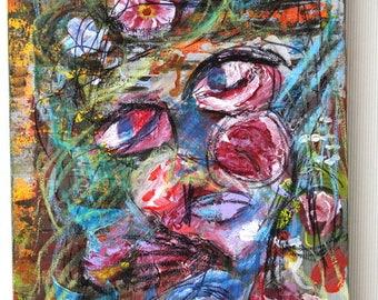 Acrylic Painting  Art original  Art 40 x 30 cm