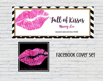 Facebook Cover Set  Includes:  Banner and Profile Pic  LipSense    Makeup Artist    Download   Personalized