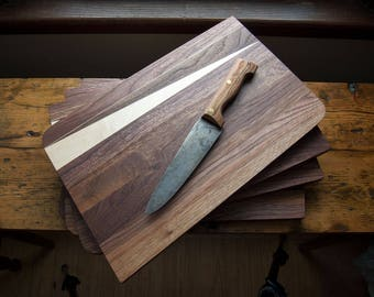 "Walnut & Maple ""Wedge"" Cutting Board / Serving Board"