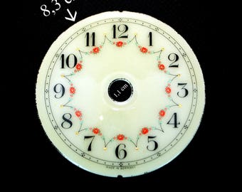 Dial with golden dots antique porcelain metal made in Germany