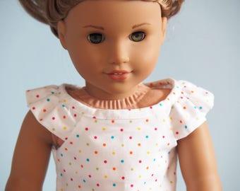 Summer cotton nightie for Florrie, Our Generation, American Girl, Journey Girls
