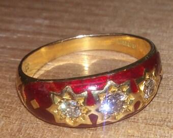 18ct gold gypsy ring