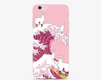 Animals Case iPhone 7 Plus Case iPhone 7 Case iPhone 5S iPhone 5c Case Funny Llama Case Samsung Galaxy S8 Case iPhone 6S Plus Case ACF_007