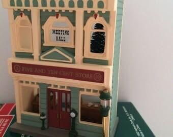 Hallmark Keepsake Five and Ten Cent Store Ornament 9 Nostalgic Houses & Shops 1992
