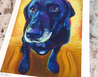 Black lab art | Etsy