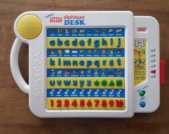 Learn French Vintage VTECH Talking Little Smart Alphabet Desk in French Only Electronic Kids Educational Learning Toy ABC 123 Spelling