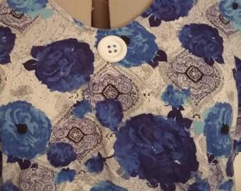 Blue Flowers in Bloom Shirt