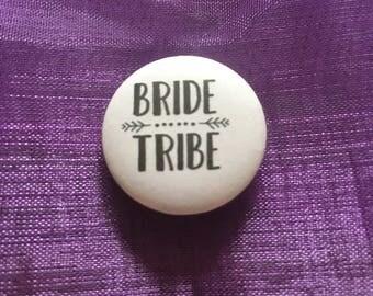 Team bride button badge wedding, party, gift 25mm/1 inch