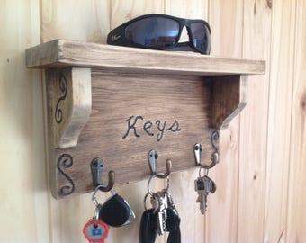 key holder/key rack/key hook/entryway organizer/Wall key holder/,home decor,fathers day/house warming gift/key organizer/key holder for wall