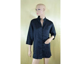 Vintage Montego women shirt blouse top linen