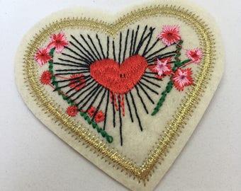 Heart - Iron on Appliqué Patch