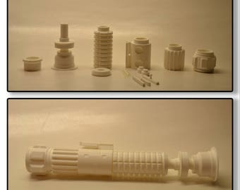 3d printed Obi Wan ANH inspired lightsaber kit. Class 1, display version.