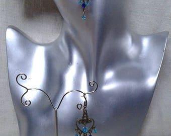 dark and light blue earrings