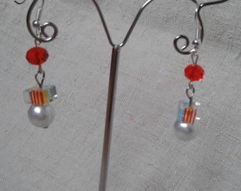 """beautiful multicolored spacer"" earrings"