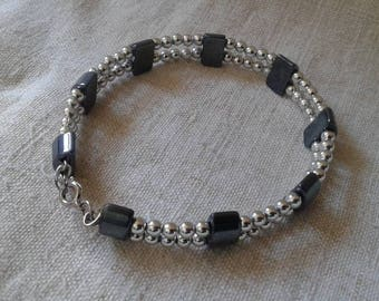 "bracelet ""marriage of the silver and black"""