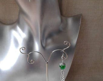 "Earrings ""Silver tie and Pearl"""