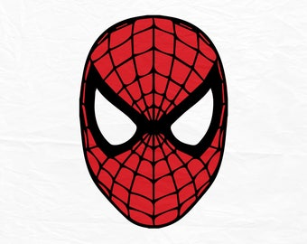 Spiderman SVG, Spiderman Face SVG, Spiderman mask, Svg, Mask svg, Superhero svg  Silhouette Cut Files, Cricut Cut Files