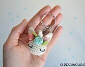 Llavero unicornio amigurumi,bajo pedido, amigurumi unicorn keyring, licorne crochet porte-clés, amigurumi unicorn,keyring, llavero unicornio
