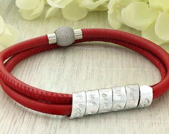 Personalized anniversary bracelet - Wedding anniversary gift - Personalized bracelet for her - Anniversary bracelet - Personalized jewelry