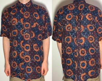Vintage Patterned Shirt - Vintage Clothing
