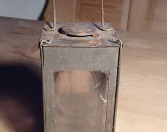Old antique candle lantern, German Carl Biber München Hand Lantern, old lantern lamp light, Folding lantern, Candle Holder, Candle Lamp
