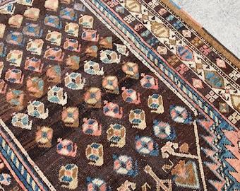 Antique Malayer Rug, Persian Rug, Caucasian Rug, Kazak Rug, Vintage Rug, Boho Rug, Turkish Rug, Persian Rugs  165 x 107 cm / 5.4 x 3.5 ft