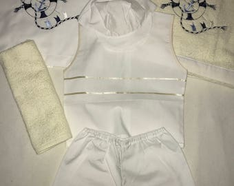 Ladopana/ baptism undergarments set with towels