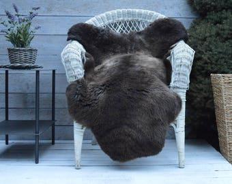 Unique No.722 Luxury Sheepskin Rug, Throw, Blanket, Very Rare Breed Multi - Size XL