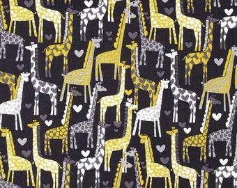 Michael Miller GIRAFFE LOVE kids patchwork fabric