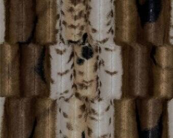 Minky Cuddle Soft Grey-beige and Brown Fancy Leopard