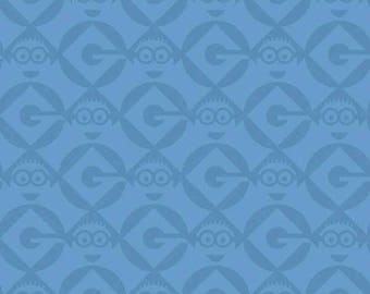 fabric child patchwork blue MINION by Quilting treasures
