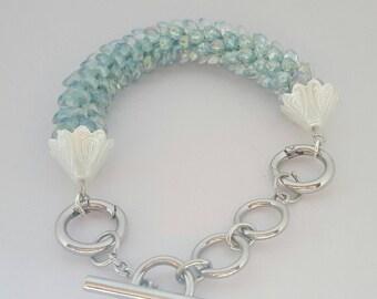 FREE SHIPPING!!!!!!!! Kumihimo seafoam bracelet